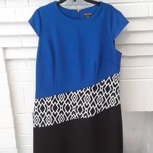 EUC  Voir Voir Color Block Dress Sz 8